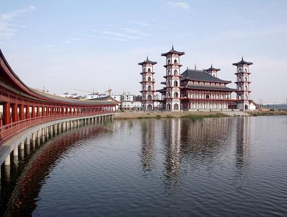 灵武河流风景图片