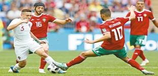 葡萄牙队胜摩洛哥队