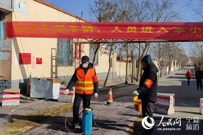 """石嘴山市惠农区出动1200个""""红袖"""