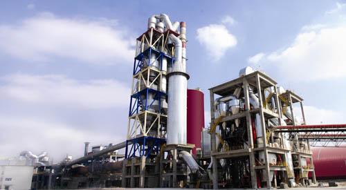 吨熟料新型干法水泥生产线投产图片